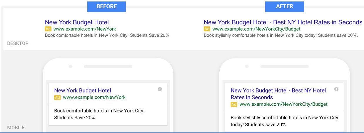 גוגל מרחיבה את המודעות