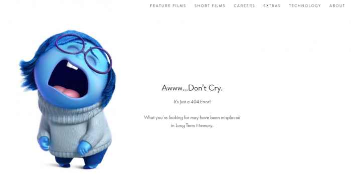עמוד 404 pixar